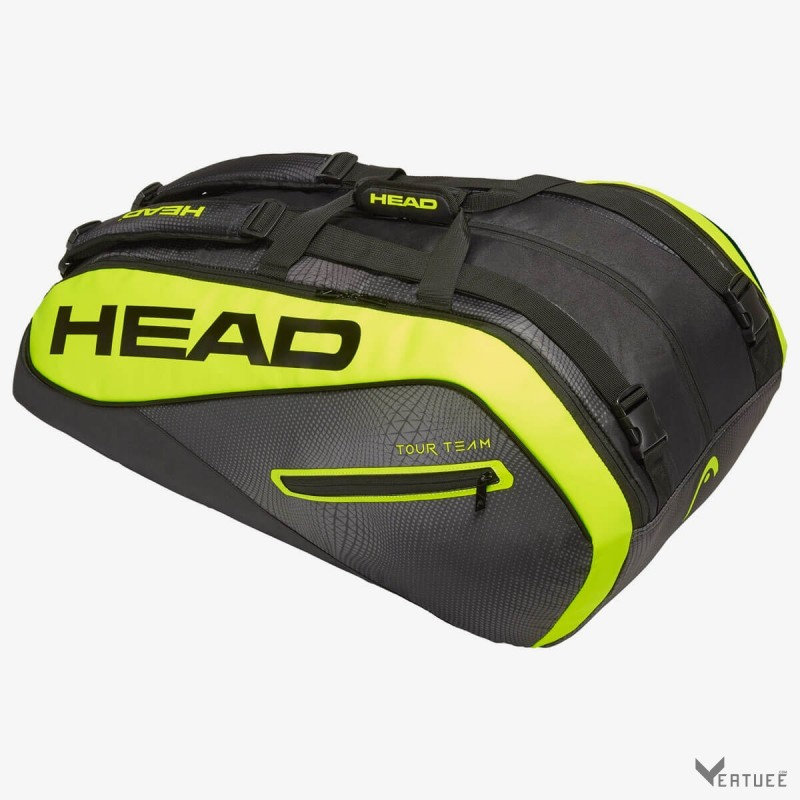 HEAD Tour Team Extreme 12R Monstercombi Black/Neon Yellow Tennis Kit Bag (12 Racquets)