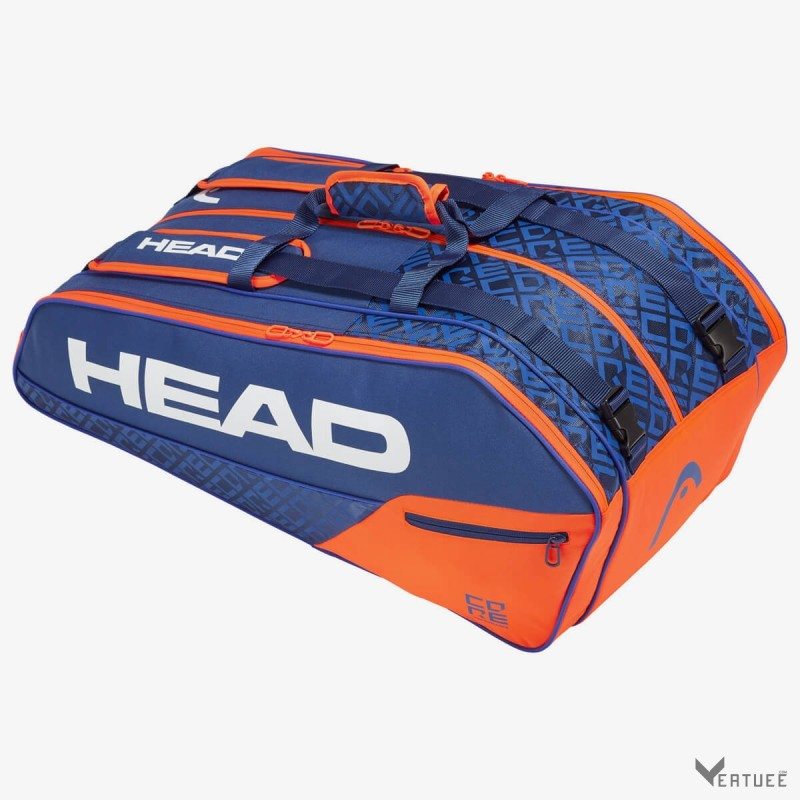 HEAD Core 9R Supercombi Blue/Orange Tennis Kit Bag (9 Racquets)