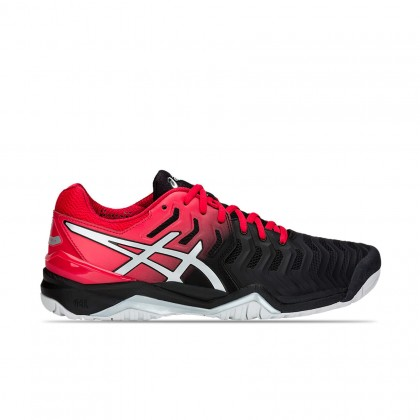 Asics GEL-Resolution 7 Black/Silver/Red Tennis Shoes Online at Best Price, Reviews
