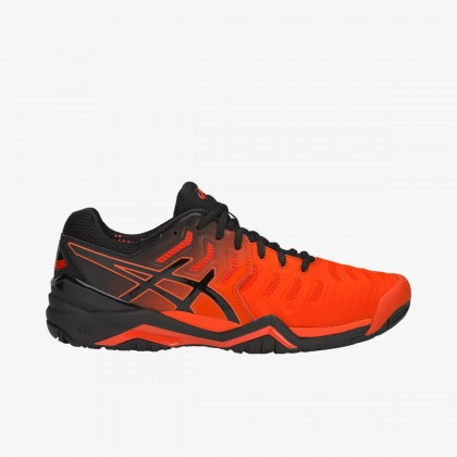Asics GEL-Resolution 7 Red Cherry Tomato/Black Tennis Shoes Online at Best Price, Reviews