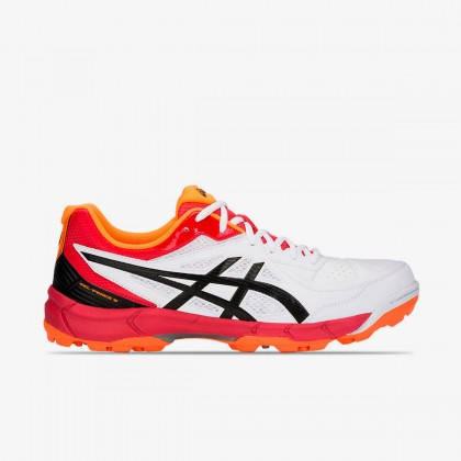Asics Gel-Peake 5 White/Black/Red Surf Cricket Rubber Spike Shoes Online at Best Price, Reviews