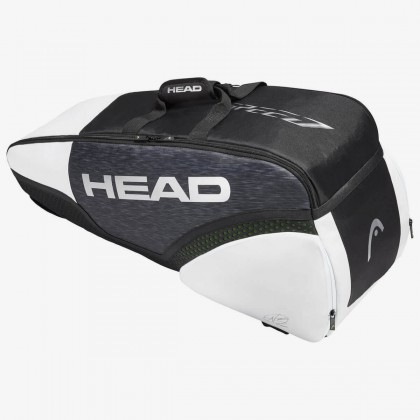 HEAD Djokovic 6R Combi Black/White Tennis Kit Bag (6 Racquets) Online at Best Price, Reviews