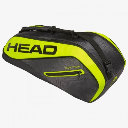 HEAD Tour Team Extreme 6R Combi Black/Neon Yellow Tennis Kit Bag (6 Racquets) Online at Best Price, Reviews