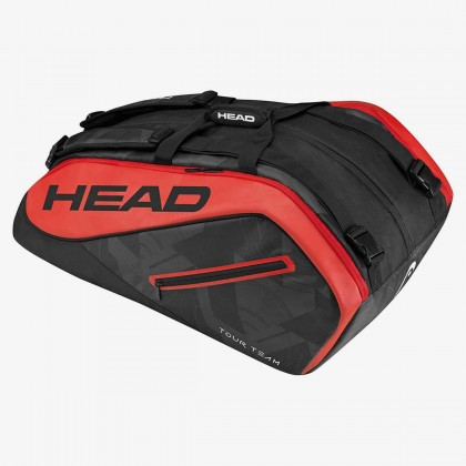 HEAD Tour Team 12R MonsterCombi Black/Red Tennis Kit Bag (12 Racquets) Online at Best Price, Reviews
