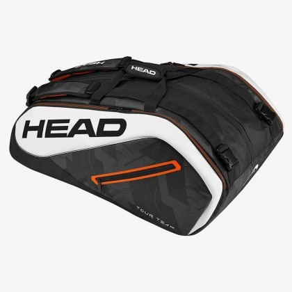 HEAD Tour Team 12R MonsterCombi Black/White Tennis Kit Bag (12 Racquets) Online at Best Price, Reviews
