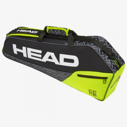 HEAD Core 3R Pro Black/Neon Yellow Tennis Kit Bag (3 Racquets) Online at Best Price, Reviews