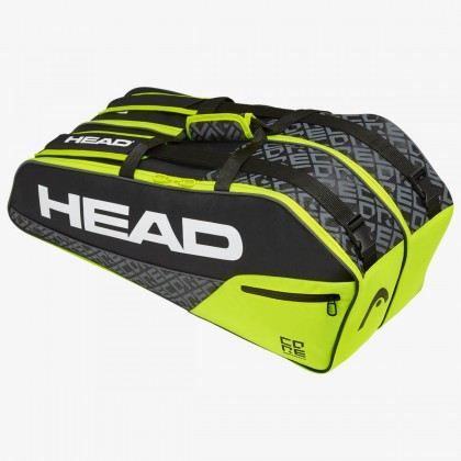 HEAD Core 6R Combi Black/Neon Yellow Tennis Kit Bag (6 Racquets) Online at Best Price, Reviews