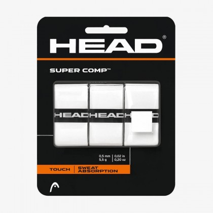 HEAD Supercomp™ White Tennis Racquet Overwrap/Grip (Pack of 3) Online at Best Price, Reviews