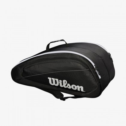 Wilson Fed Team 2018 12 Pack Black/White Tennis Bag Online at Best Price, Reviews