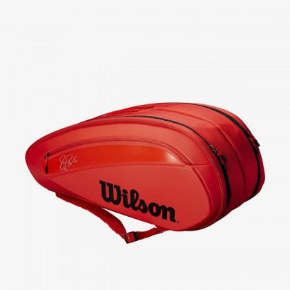 Wilson Federer DNA 2018 12 Pack Red Infrared Tennis Bag Online at Best Price, Reviews