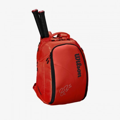 Wilson Federer DNA 2018 Infrared Red Backpack Tennis Bag Online at Best Price, Reviews