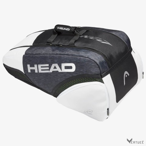 HEAD Djokovic 9R Supercombi Black/White Tennis Kit Bag (9 Racquets)