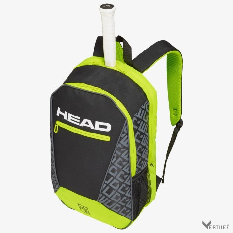 HEAD Core Backpack Black/Neon Yellow Tennis Kit Bag