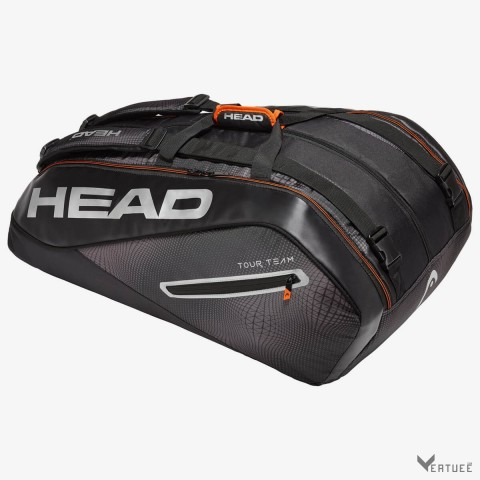 HEAD Tour Team 12R MonsterCombi Black/Silver Tennis Kit Bag (12 Racquets)